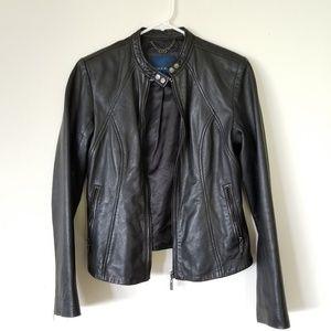 Cole Haan black leather jacket